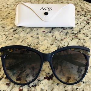 Navy and Tortoise Cat Eye Sunglasses